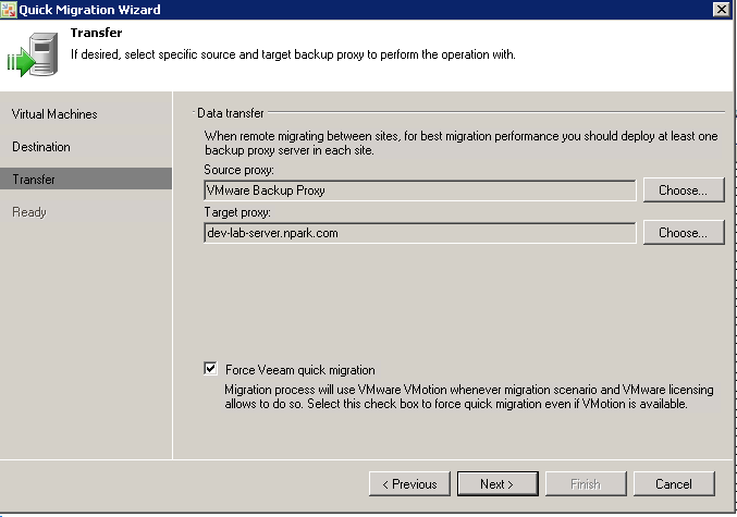 "Veeam Quick Migration"" how do you use it? – Rick's Tech Gab"